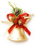 De klok van Kerstmis op wit stock afbeelding