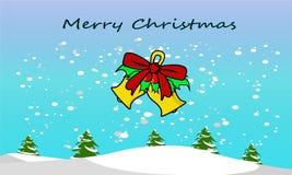 De klok van de Kerstmisillustratie stock fotografie