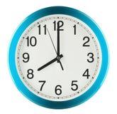 De klok van de muur die op witte achtergrond wordt geïsoleerd Acht uur royalty-vrije stock fotografie
