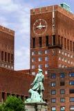 De Klok van Oslo Stock Foto's