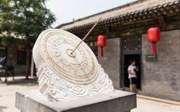 De klok van Oud China stock afbeelding