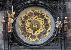 De klok van Praag Stock Foto's