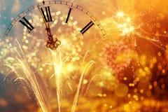 De klok van twaalf o ` - nieuwe jaar` s vooravond Royalty-vrije Stock Afbeeldingen