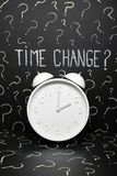 De klok verandert Europese Unie stock foto