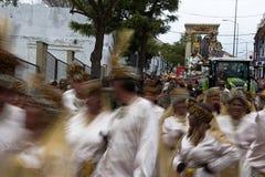 De kloka männen ståtar i Carmona 18 Arkivbilder