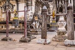 De Klokken van de Anandatempel in Bagan, Myanmar, Birma Stock Afbeelding
