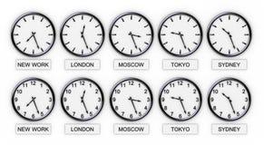 De Klokken van de wereld (Tijd) Stock Foto