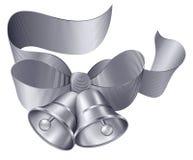 De Klokken van de zilveren bruiloft Stock Afbeelding
