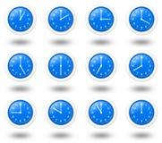 De Klokken van tijdzones royalty-vrije illustratie