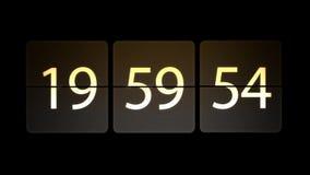 De klokken worden geplaatst bij 20:00: 00 beginnen met de aftelprocedure Chaotische bewegende klok royalty-vrije illustratie