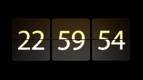 De klokken worden geplaatst bij 23:00: 00 beginnen met de aftelprocedure Chaotische bewegende klok royalty-vrije illustratie
