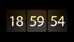 De klokken worden geplaatst bij 19:00: 00 beginnen met de aftelprocedure Chaotische bewegende klok vector illustratie