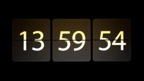 De klokken worden geplaatst bij 14:00: 00 beginnen met de aftelprocedure Chaotische bewegende klok royalty-vrije illustratie