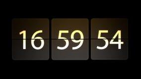 De klokken worden geplaatst bij 17:00: 00 beginnen met de aftelprocedure Chaotische bewegende klok royalty-vrije illustratie