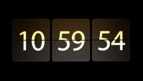 De klokken worden geplaatst bij 11:00: 00 beginnen met de aftelprocedure Chaotische bewegende klok vector illustratie