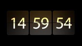 De klokken worden geplaatst bij 15:00: 00 beginnen met de aftelprocedure Chaotische bewegende klok stock illustratie
