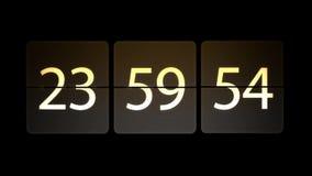 De klokken worden geplaatst bij 00:00: 00 beginnen met de aftelprocedure Chaotische bewegende klok vector illustratie