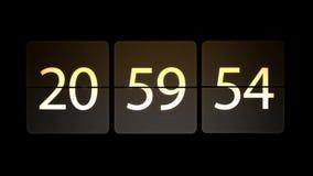 De klokken worden geplaatst bij 21:00: 00 beginnen met de aftelprocedure Chaotische bewegende klok stock illustratie