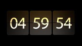 De klokken worden geplaatst bij 05:00: 00 beginnen met de aftelprocedure Chaotische bewegende klok stock illustratie