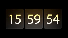De klokken worden geplaatst bij 16:00: 00 beginnen met de aftelprocedure Chaotische bewegende klok stock illustratie