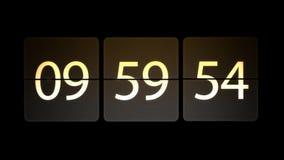 De klokken worden geplaatst bij 10:00: 00 beginnen met de aftelprocedure Chaotische bewegende klok royalty-vrije illustratie