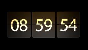 De klokken worden geplaatst bij 09:00: 00 beginnen met de aftelprocedure Chaotische bewegende klok stock video