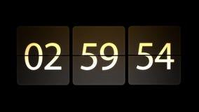 De klokken worden geplaatst bij 03:00: 00 beginnen met de aftelprocedure Chaotische bewegende klok stock illustratie