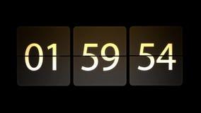 De klokken worden geplaatst bij 02:00: 00 beginnen met de aftelprocedure Chaotische bewegende klok stock illustratie