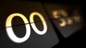 De klokken worden geplaatst bij 00:00 beginnend een nieuwe aftelprocedure Chaotische bewegende klok vector illustratie
