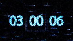De klokken worden geplaatst bij 03:00 beginnend een nieuwe aftelprocedure De aftelprocedure op het computerscherm Nul aftelproced vector illustratie