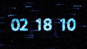De klokken worden geplaatst bij 06:00 beginnend een nieuwe aftelprocedure De aftelprocedure op het computerscherm Nul aftelproced stock illustratie
