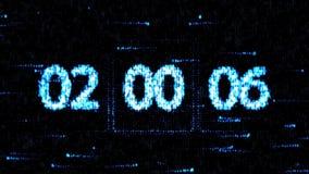 De klokken worden geplaatst bij 02:00 beginnend een nieuwe aftelprocedure De aftelprocedure op het computerscherm Nul aftelproced vector illustratie