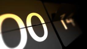 De klokken worden geplaatst bij 00:00 beginnend een nieuwe aftelprocedure Nul aftelprocedure Chaotische bewegende klok royalty-vrije illustratie