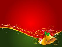De klokkenachtergrond van Kerstmis Stock Afbeeldingen
