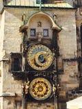 De klokketoren astronomische Tsjechische republiek van Praag Stock Foto's