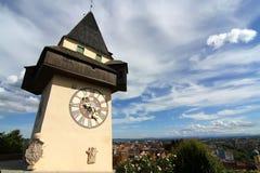 De klokketoren in Graz stock fotografie