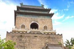 De klokketoren in Peking Royalty-vrije Stock Fotografie