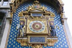 De klokketoren (Reis DE l'Horloge) - Parijs Stock Foto's