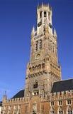 De Klokketoren van Brugge stock afbeeldingen
