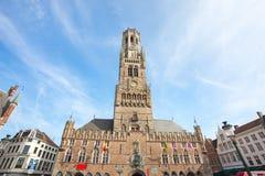 De Klokketoren van Brugge in Brugge, België stock foto's