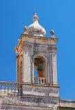 De klokketoren van Collegiale Kerk van St Paul in Rabat, Malta Royalty-vrije Stock Afbeelding