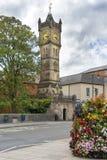 De klokketoren van de Fishertonstraat, Salisbury, Engeland stock foto