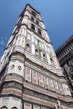 De Klokketoren van de Kathedraal van Florance Stock Foto