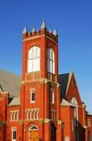 De klokketoren van de kerk Stock Afbeelding