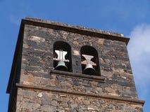 De klokketoren van de kerk van La Oliva royalty-vrije stock foto