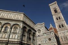 De Klokketoren van Giotto, Florence, Italië stock afbeeldingen