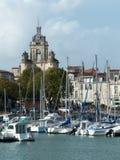 De Klokketoren van Grosse Horloge in La Rochelle France stock foto's