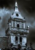 De klokketoren van het klooster in Valldemossa Stock Afbeeldingen