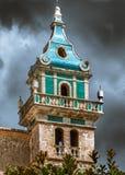 De klokketoren van het klooster in Valldemossa Royalty-vrije Stock Foto's