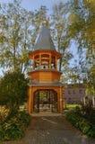 De klokketoren van het klooster Zverin stock afbeelding
